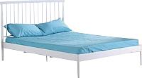 Двуспальная кровать Halmar Brenda 160x200 (белый) -