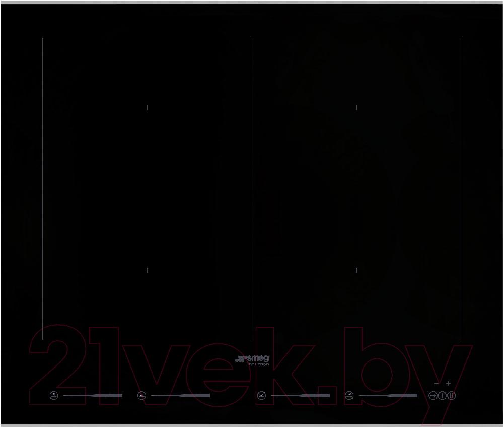 Купить Индукционная варочная панель Smeg, SIM662WLDX, Италия