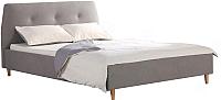 Двуспальная кровать Halmar Doris (серый/ольха) -