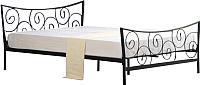Полуторная кровать Halmar Ramona (черный) -
