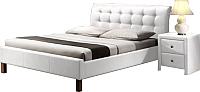 Двуспальная кровать Halmar Samara (белый) -