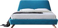 Двуспальная кровать Signal Gant 160x200 (бирюзовый) -