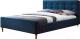 Двуспальная кровать Signal Pinko 160x200 (темно-синий) -