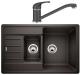 Мойка кухонная Blanco Legra 6 S Compact (521302) + смеситель Daras (517721) / 521302D2 (антрацит) -