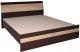 Двуспальная кровать Интерлиния Коламбия КЛ-001 160 с основанием (дуб венге/дуб серый) -