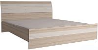 Двуспальная кровать Интерлиния Коламбия КЛ-001 160 с основанием (дуб сонома/дуб белый) -