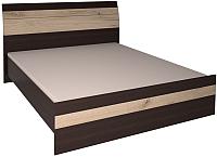 Полуторная кровать Интерлиния Коламбия КЛ-001-2 140 с основанием (дуб венге/дуб серый) -