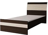 Односпальная кровать Интерлиния Коламбия КЛ-001-3 90 с основанием (дуб венге/дуб серый) -