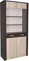 Шкаф с витриной Интерлиния Коламбия КЛ-3-1 (дуб венге/дуб серый) -