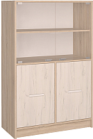 Шкаф с витриной Интерлиния СК-027 (дуб сонома/дуб белый) -
