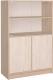 Шкаф с витриной Интерлиния СК-027 с витриной (дуб сонома/дуб белый) -