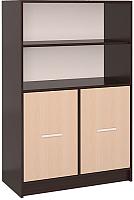 Шкаф Интерлиния СК-027 без витрины (дуб венге/дуб молочный) -