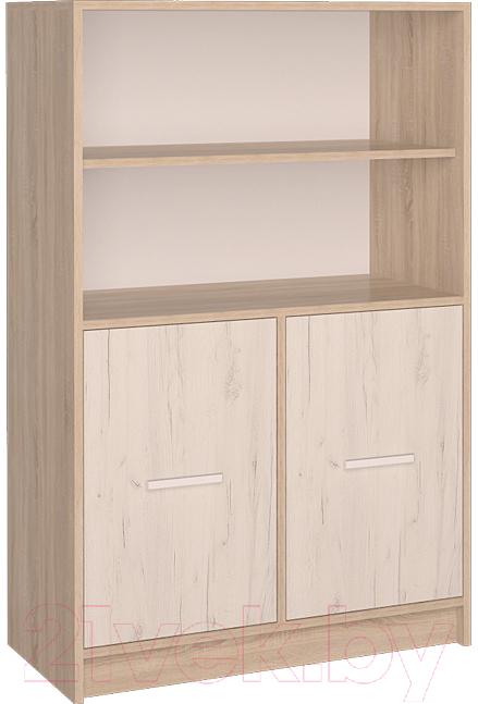 Купить Шкаф Интерлиния, СК-027 без витрины (дуб сонома/дуб белый), Беларусь