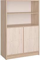 Шкаф Интерлиния СК-027 без витрины (дуб сонома/дуб белый) -