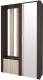 Секция в прихожую Интерлиния Коламбия КЛ-14 (дуб венге/дуб серый, правый) -