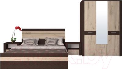 интерлиния коламбия 4 дуб венгедуб серый комплект мебели для