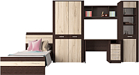 Комплект мебели для жилой комнаты Интерлиния Коламбия-5 (дуб венге/дуб серый) -