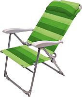 Складной шезлонг Ника К2 (зеленый) -
