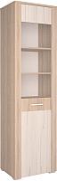Шкаф-пенал с витриной Интерлиния Коламбия КЛ-5-1 (дуб сонома/дуб белый) -