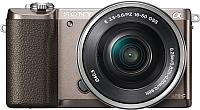 Беззеркальный фотоаппарат Sony Alpha A5100 Kit 16-50mm / ILCE-5100LT (коричневый) -