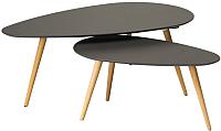 Комплект журнальных столиков Signal Nilan B (серый/бук) -