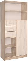 Шкаф Интерлиния СК-021 (дуб сонома/дуб белый) -