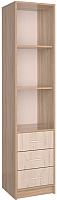 Шкаф-пенал Интерлиния СК-023 без витрины (дуб сонома/дуб белый) -
