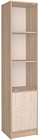 Шкаф-пенал с витриной Интерлиния СК-024 (дуб сонома/дуб белый) -