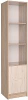 Шкаф-пенал Интерлиния СК-024 без витрины (дуб сонома/дуб белый) -