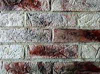 Декоративный камень Baastone Кирпич Варшавский белый,черный-красный-коричневый 105 (240x63x7-9) -