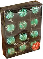 Набор ёлочных игрушек Luazon Элит 2123004 (зеленый, 12шт) -