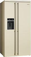 Холодильник с морозильником Smeg SBS8004PO -