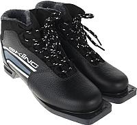 Ботинки для беговых лыж TREK Skiing НК (черный/серый, р-р 35) -
