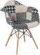 Кресло мягкое Signal Denis (черный/пэчворк) -