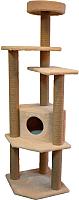 Комплекс для кошек Cat House Торнадо джут (бежевый) -