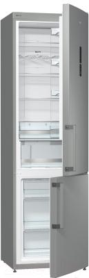 Холодильник с морозильником Gorenje NRK6201MX