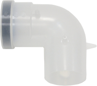 Удлинитель дымохода Vaillant DN80 PP / 303263 (колено 90) -
