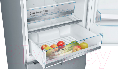 Холодильник с морозильником Bosch KGN39VL1MR