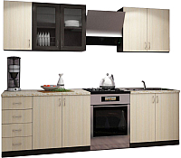 Готовая кухня Интерьер центр Татьяна / Катя 2.0 (венге/беленый дуб) -