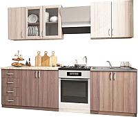 Готовая кухня Интерьер центр Татьяна / Катя 2.0 (ясень светлый/ясень темный) -