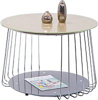 Журнальный столик Halmar Riva (бежевый/серый) -