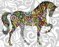 Картина по номерам Picasso Радужная лошадь (PC4050355) -