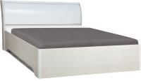 Двуспальная кровать Олмеко 06.297 (к.з. глянец/крокодил белый) -