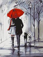 Картина по номерам Picasso Прогулка под красным зонтом (PC4050237) -