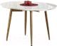 Обеденный стол Halmar Edward 120-200x100 (белый/дуб медовый) -