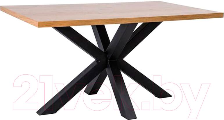 Купить Обеденный стол Signal, Cross 180x90 (дуб/черный), Польша