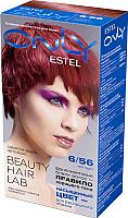 Гель-краска для волос Estel Only 6/56 (темно-русый красно-фиолетовый) -