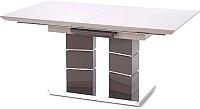 Обеденный стол Halmar Lord 160-200x90 (светло-серый/темно-серый) -