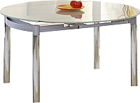 Обеденный стол Halmar Nestor 130x80 (прозрачный/серый) -