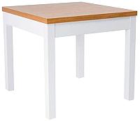 Обеденный стол Signal Kent I 80x80 (белый/бук) -